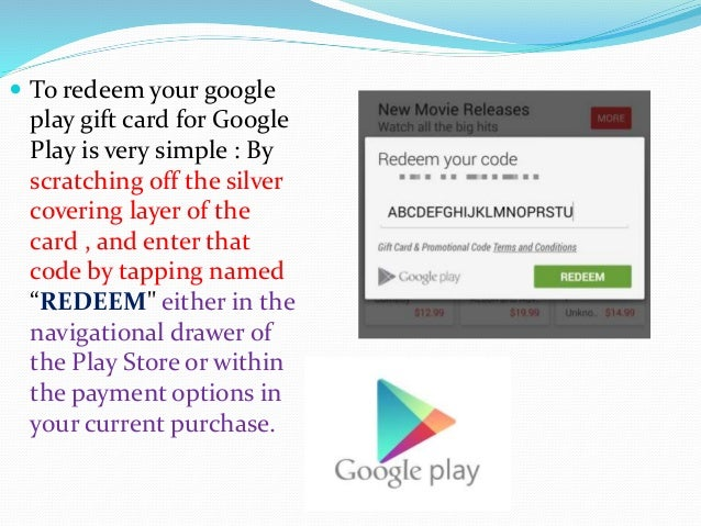 How to redeem Google Play Gift Card - Mygiftcardsupply