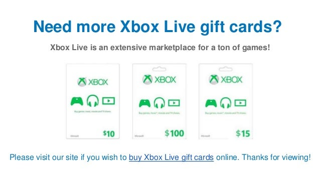 How to Redeem an Xbox Live Gift Card Online