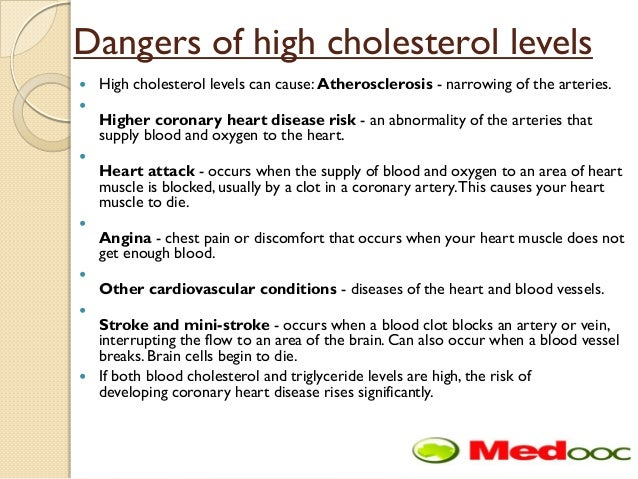 what are the risk of high cholesterol