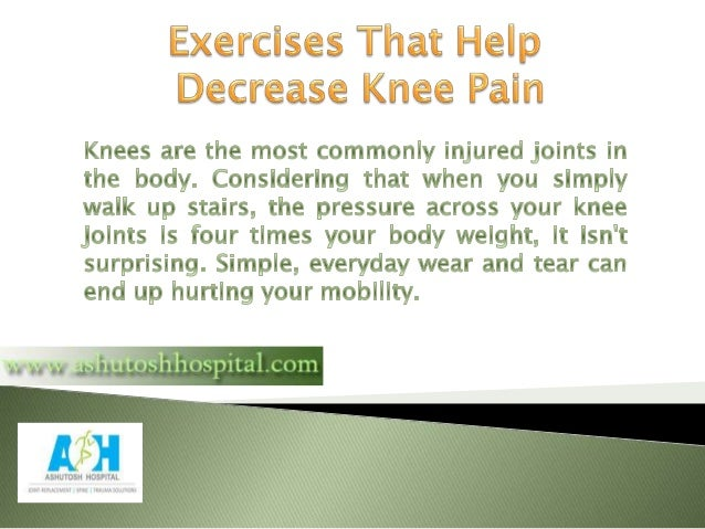 How to Reduce Knee Pain With Exercise Slide 2