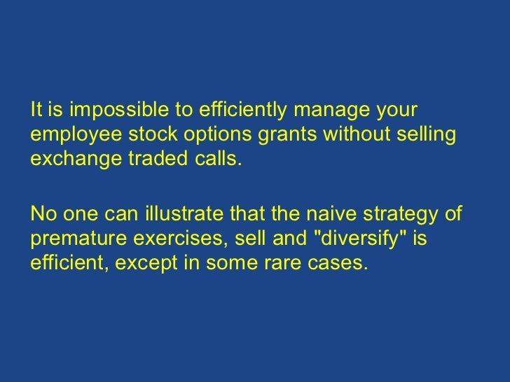 Sell stock options employee