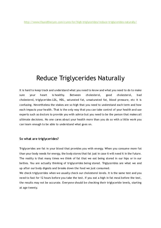 http://www.ifoundthecure.com/cures-for/high-triglycerides/reduce-triglycerides-naturally/               Reduce Triglycerid...