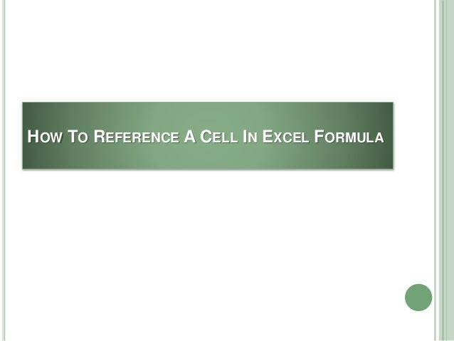 ecel how to get cell reference