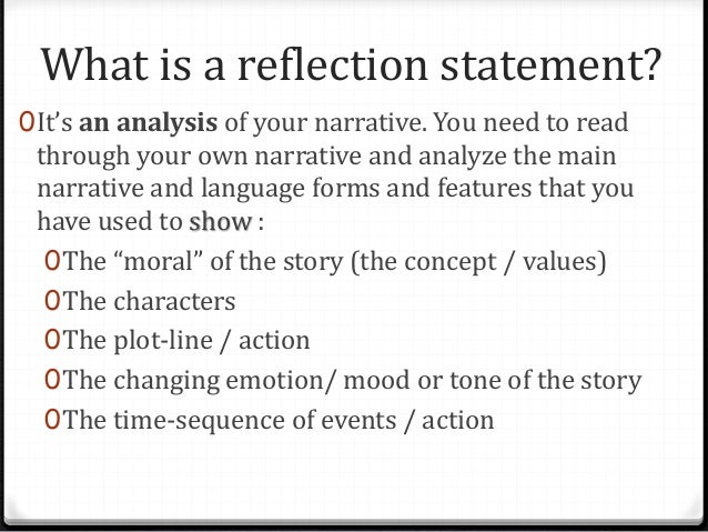 Examples of Reflective Writing