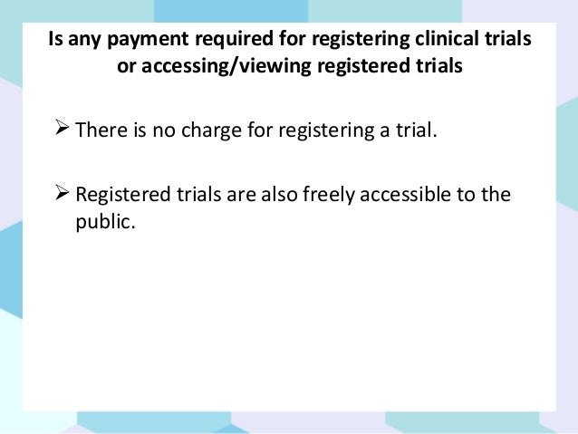 How to register a clinical trial india