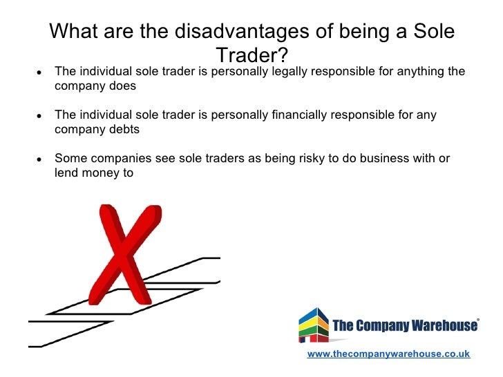 Sole trader advantages and disadvantages - Company Bug