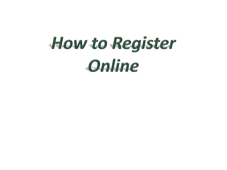 <ul><li>Registration starts with the creation and distribution of the  REGISTRATION BULLETIN .  </li></ul><ul><li>The bull...