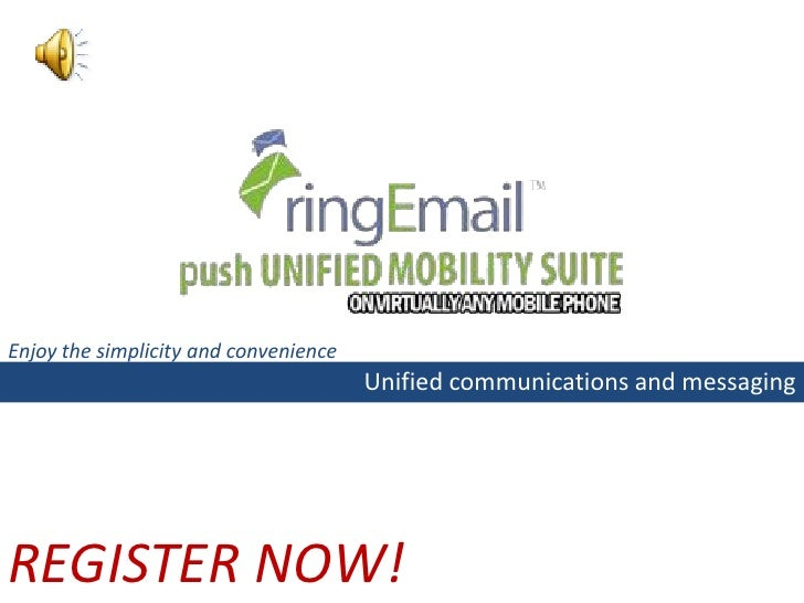 How to Register and Download ringEmail uConnect from your