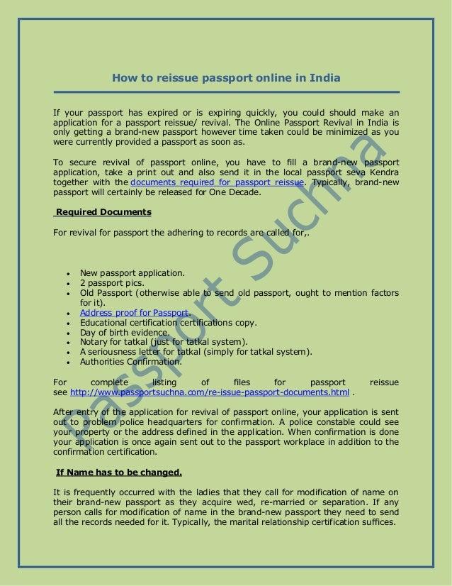 How To Reissue Passport Online In India