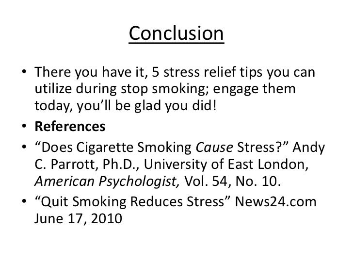 how to relieve stress after smoking cessation 14