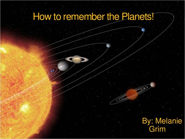 ways to memorize the planets - photo #26