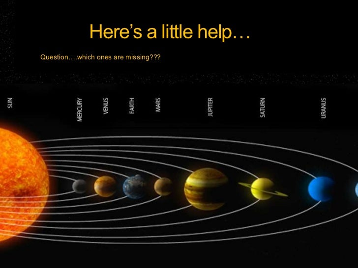 How to remember the planets!