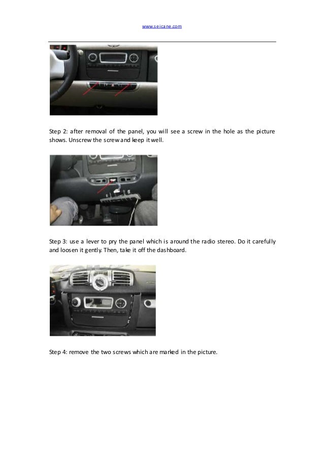 How to remove a mercedes benz smart radio stereo