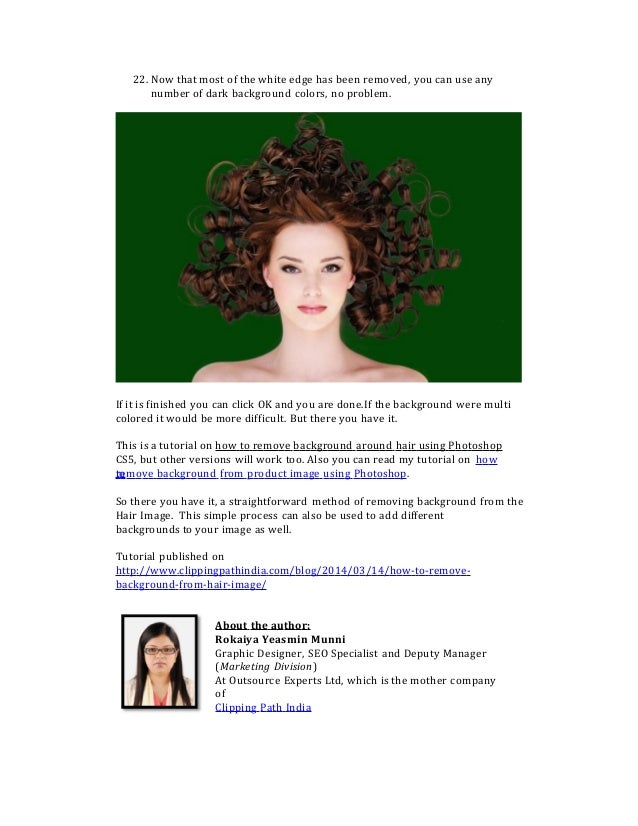 How To Remove Background From Hair Image