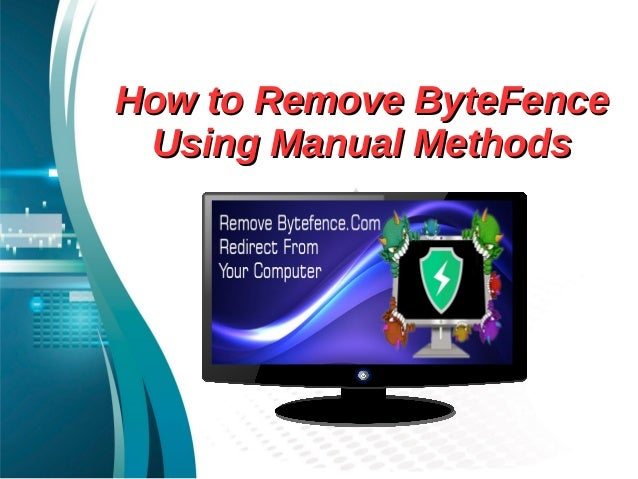 How to remove byte fence using manual methods