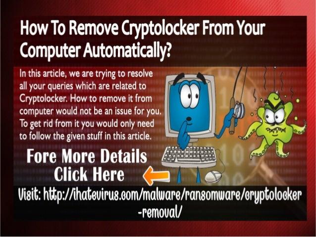 how to get rid of cryptolocker