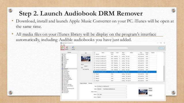 How to remove drm from audible audiobooks