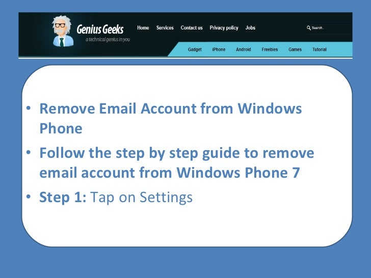 How To Remove Email Account From Windows Phone