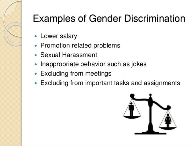 Examples of sex discrimination