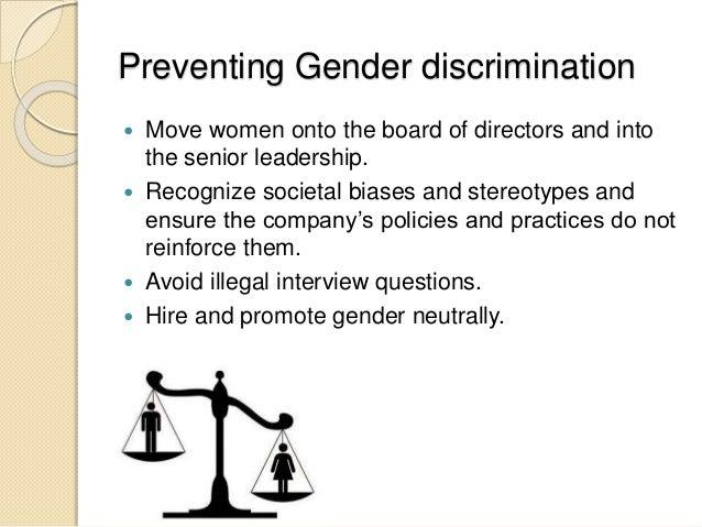 how to end gender discrimination