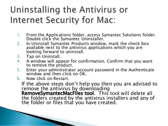 How to remove norton antivirus on mac