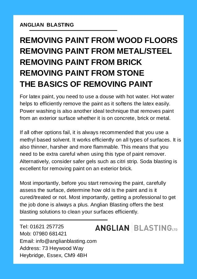 How To Remove Paint From Wood Stone Metal Or Steel