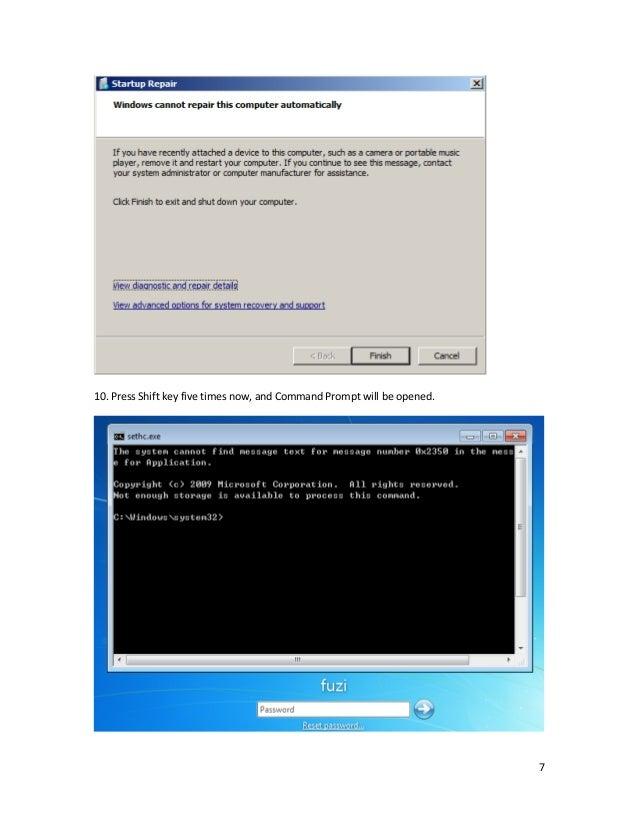 how to remove window 7 password