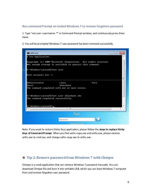Find password windows 7 cmd   how to find administrator password