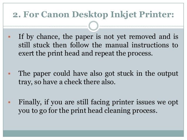 How to remove the document paper jammed in canon printer