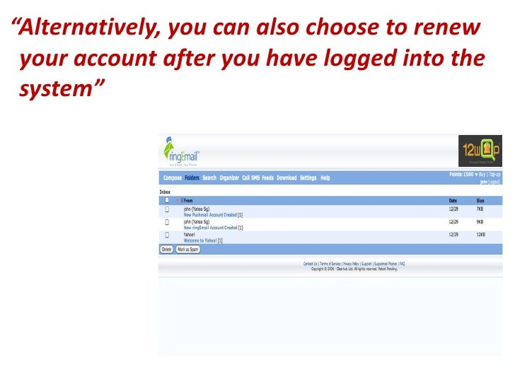 How to Renew ringEmail uConnect from your Computer?
