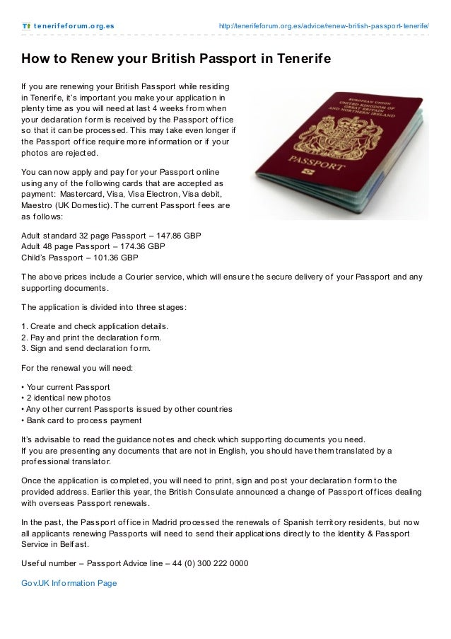 How To Renew Your British Passport