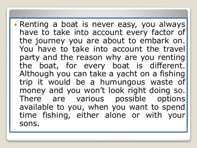 How do you rent a boat?