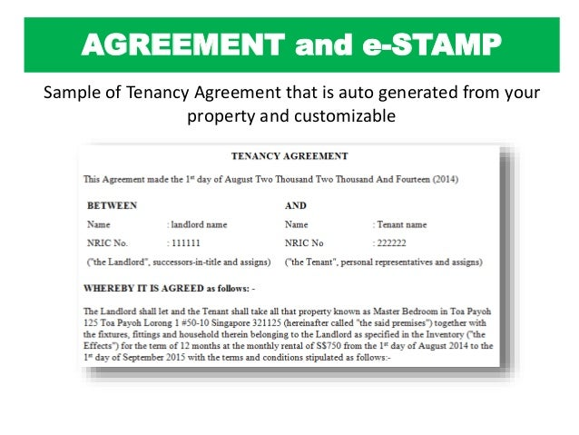 How to rent out your property in singapore agreement platinumwayz