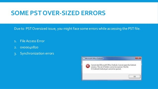 How to repair over sized outlook pst file