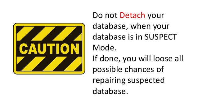 How to Repair Database from Suspect Mode in SQL Server