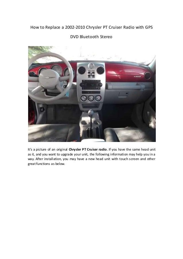 chrysler pt cruiser repair manual
