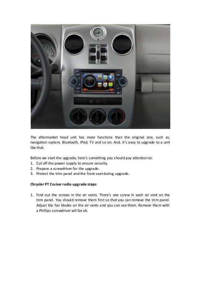 Replace A 20022010 Chrysler Pt Cruiser Radio With Gps Dvd Bluetooth \u2026rhslideshare: 2004 Pt Cruiser Audio At Gmaili.net