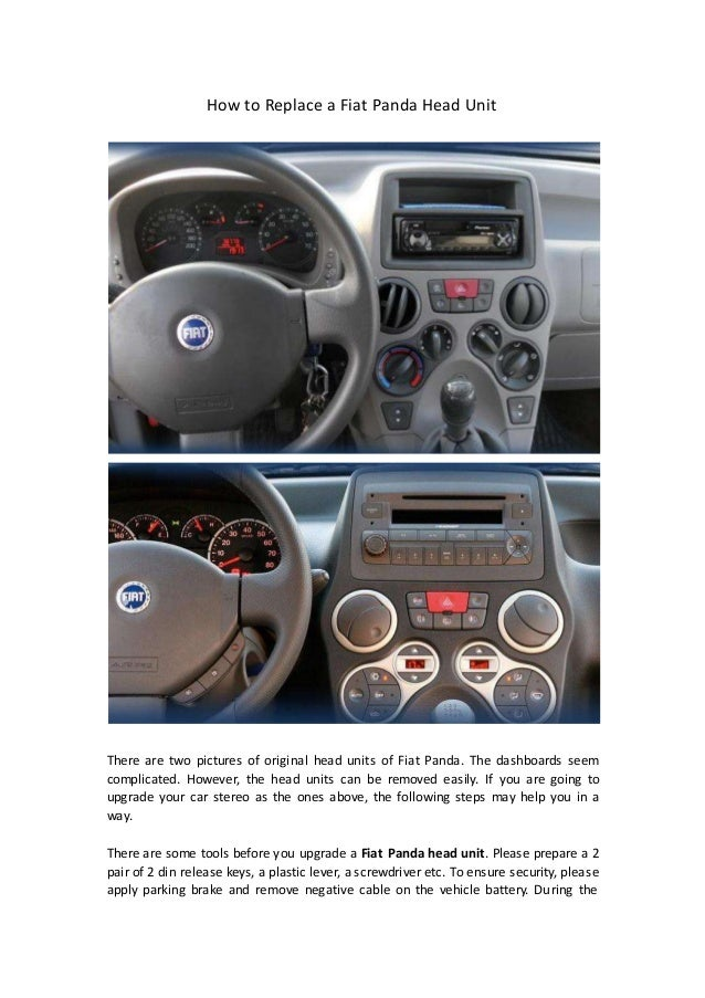 How to replace a fiat panda head unit