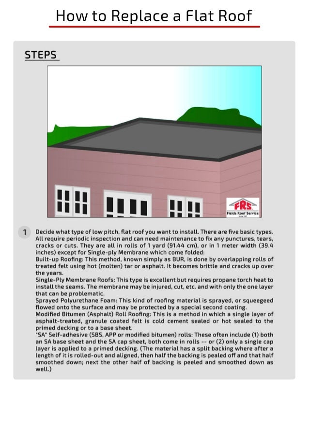 How To Make Flat Roof With A Asphalt Membrane