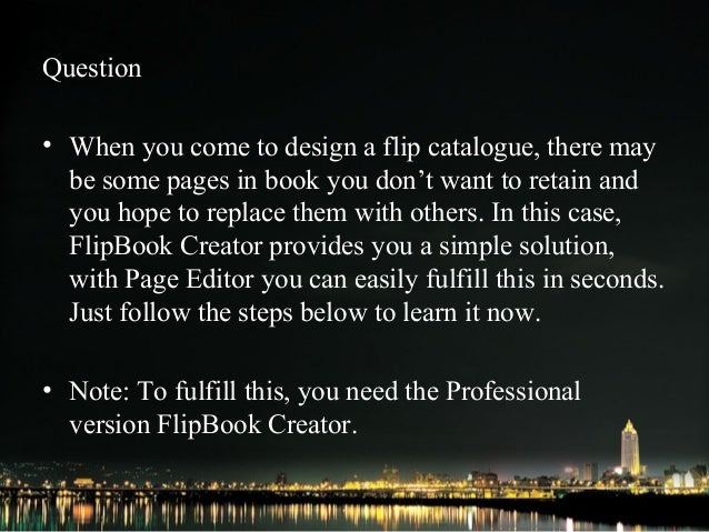 How to replace a single page within the catalogue   FlipBook Creator