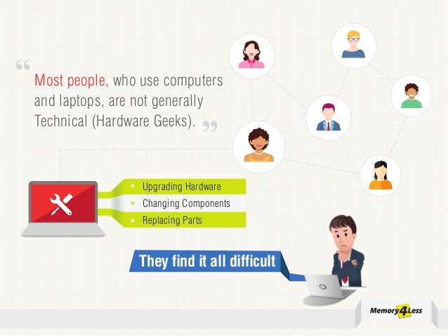 Most people, who use computers and laptops, are not generally Technical (Hardware Geeks). They find it all difficult Upgra...