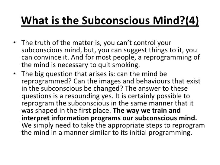 how to change your subconscious belief system