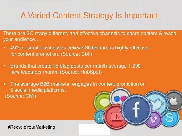 There are SO many different, and effective channels to share content & reach your audience…. A Varied Content Strategy Is ...