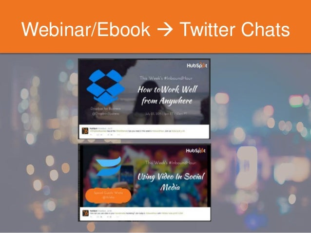 Webinar/Ebook  Twitter Chats