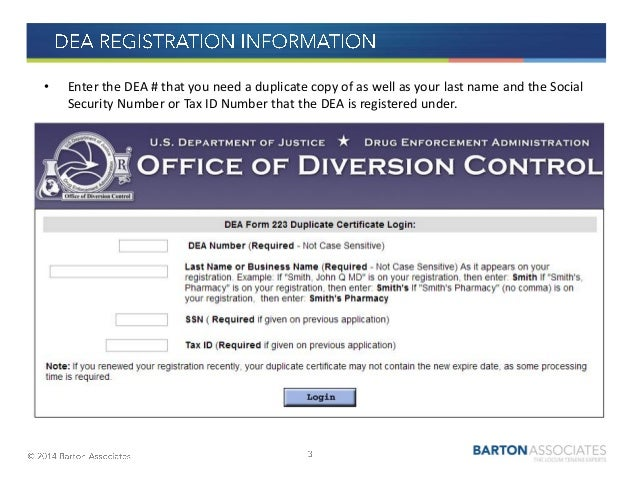 How to Request a Duplicate DEA Registration