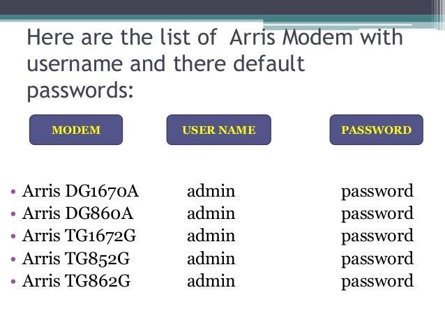 arris modem customer service