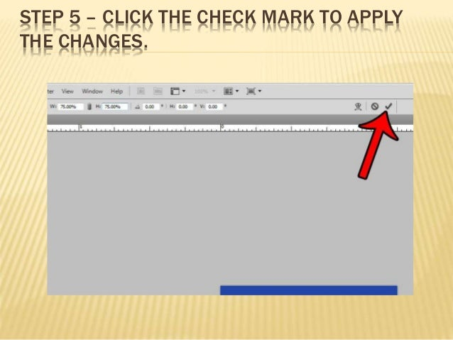how to change size of layer photoshop