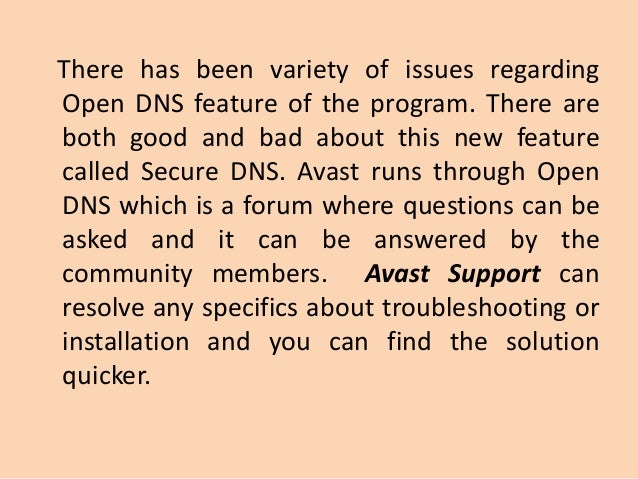 avast dns issues