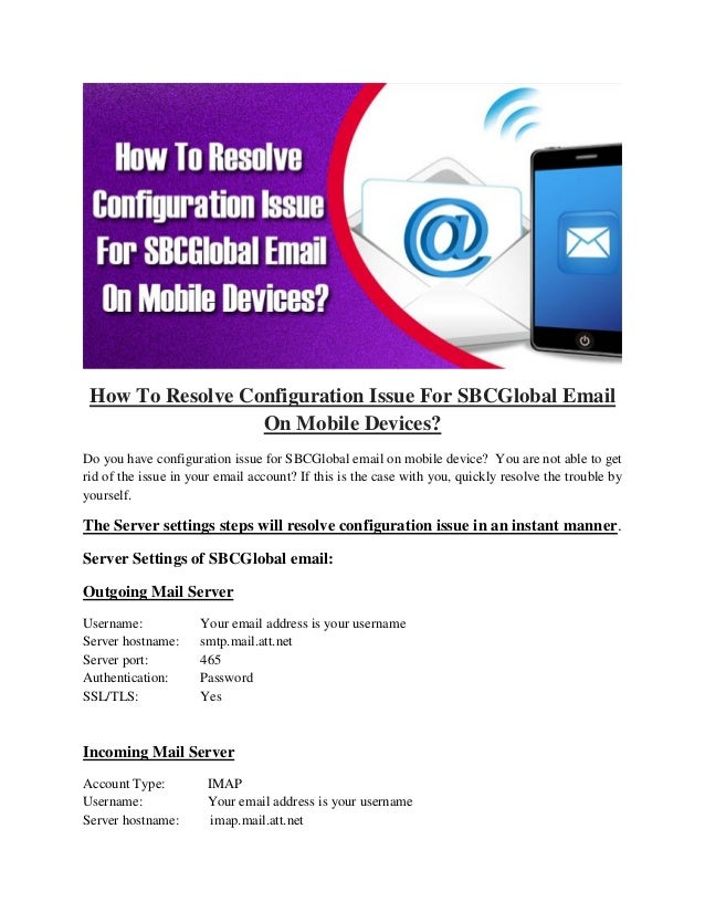 Sbcglobal incoming mail server