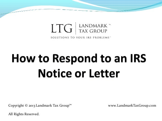 How to respond to an irs notice or letter irs tax help for Letter to the irs template